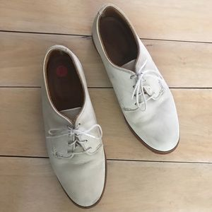 JCrew Suede Oxford Laced Loafers